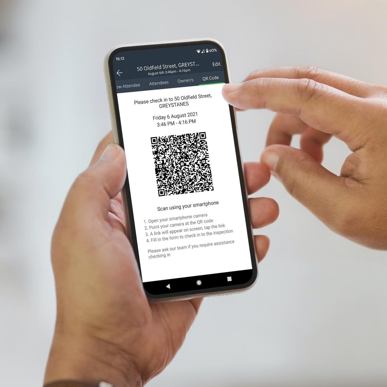 Real Estate QR Code On Mobile