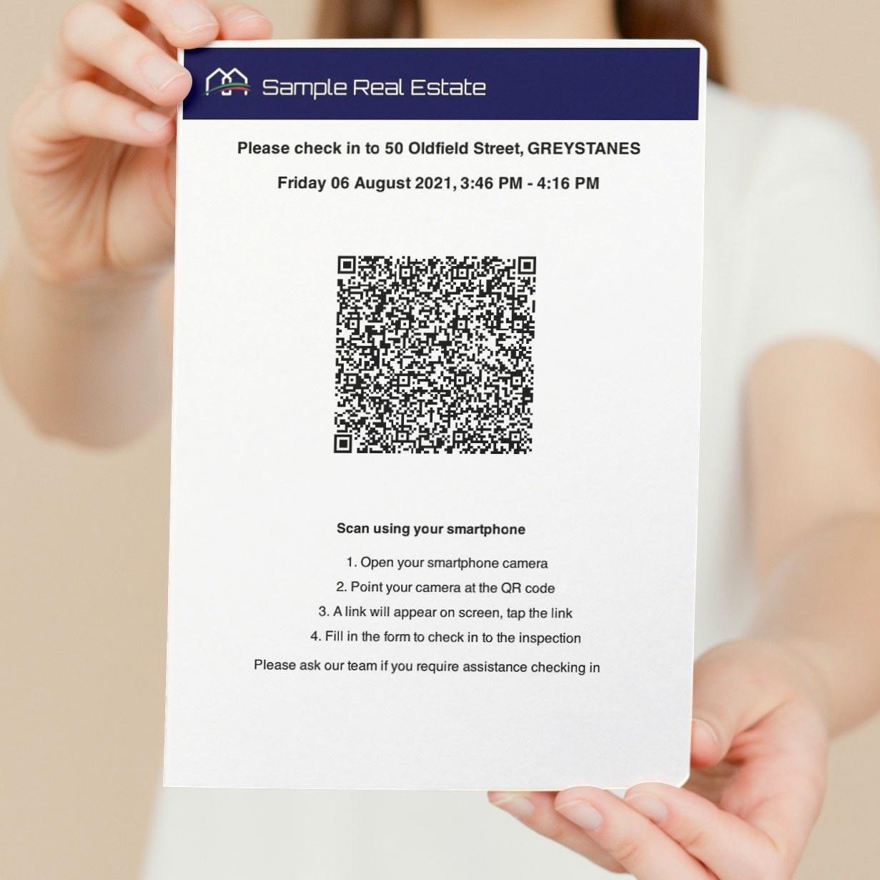 Real Estate QR Code Printed